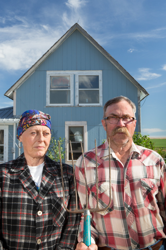 American Gothic Jim and Sharon Lindquist